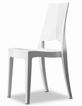 Lot de 4 chaises polycarbonate blanc brillant Suza