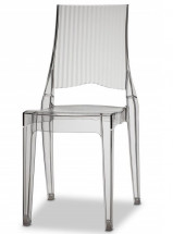 Lot de 4 chaises polycarbonate transparent Suza