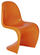 Chaise polypropylène orange brillant Focus
