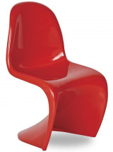 Chaise polypropylène rouge brillant Focus