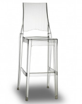 Lot de 2 tabourets polycarbonate transparent Suza