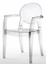 Lot de 4 fauteuils médaillons polycarbonate transparent Talya
