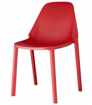 Lot de 6 chaises technopolymère rouge Kling