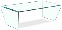 Table basse rectangulaire verre trempé transparent Jean