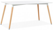Table rectangulaire bois blanc mat Hana 140