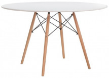 Table ronde bois blanc Wako 100