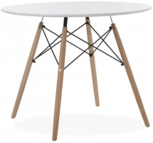 Table ronde bois blanc Wako 90