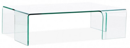 Table Basse Design En Verre.Table Basse Design Verre Trempe Transparent Lina